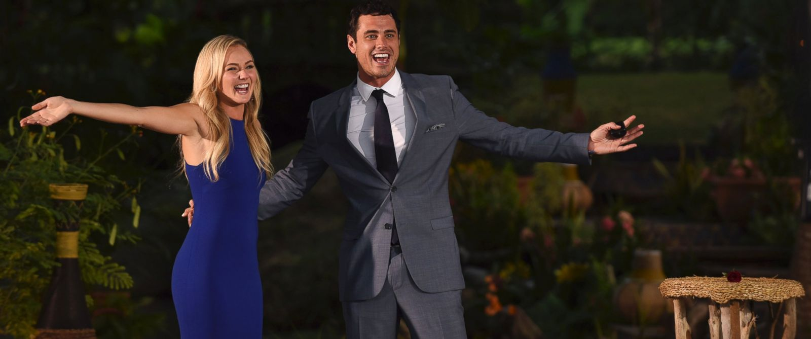 "PHOTO:Lauren and Ben are seen on the season finale episode of ""The Bachelor."""