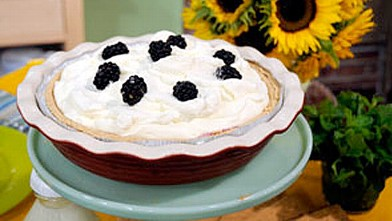 PHOTO:Deen Bros' Ten Minute Blackberry Cream Pie is shown.