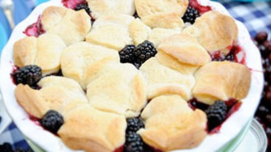 PHOTO:Blackberry cobbler is shown.