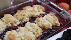 Sara Moulton's blackberry cobbler is shown here.