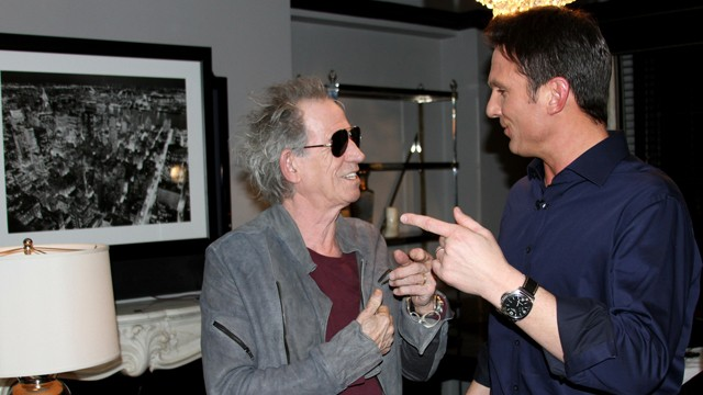 "PHOTO: ""Nightline"" anchor Bill Weir talks with Rolling Stones Keith Richards. The Stones sat down for an exclusive interview with ""Nightline"" while on their ""50 and Counting"" tour."