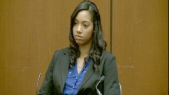 PHOTO: Bridgette Morgan takes the stand at the Conrad Murray trial, Oct. 3, 2011.
