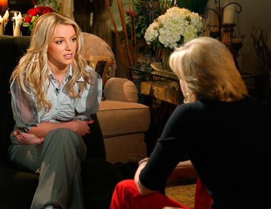 "ABC News' Diane Sawyer talked to Spears in New York for a ""Primetime"" special that aired Nov. 13, 2003."