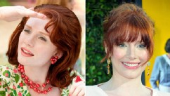 "PHOTO: Bryce Dallas Howard is shown in a scene from the movie, ""The Help,"" left, and  arriving at the film's Los Angeles Premiere held at the Academy of Motion Picture Arts and Sciences' Samuel Goldwyn Theater, Aug. 9, 2011 in Beverly Hills, Calif."