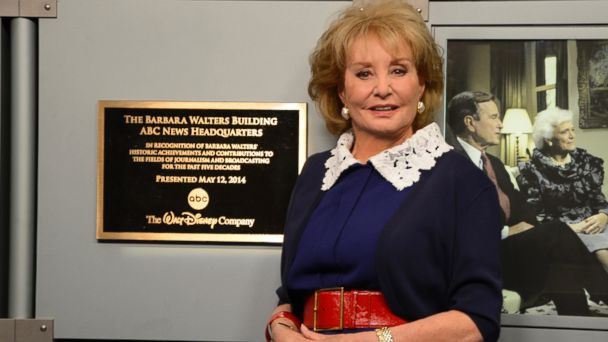 abc bwplague le 140512 16x9 608 ABC News Headquarters Named for Barbara Walters