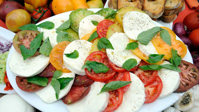 PHOTO: Mario Batali's caprese salad is shown here.