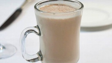 PHOTO: Chad Solomon and Christy Pope's chai spiced eggnog cocktail is shown here.