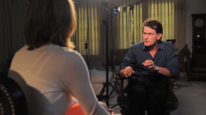 PHOTO The ABC News Interview With Charlie Sheen