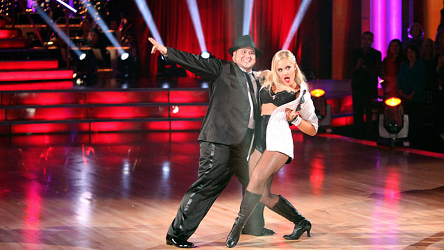 "PHOTO: Chaz Bono, one of the seven couples performing their second dance of the night on ""Dancing with the Stars,"" Oct. 24, 2011."
