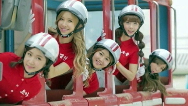 VIDEO: The all-female, motorcycle helmet-wearing pop group has a No. 1 song in Korea.