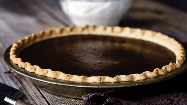 PHOTO: Michael Symon's chocolate pumpkin pie is shown here.