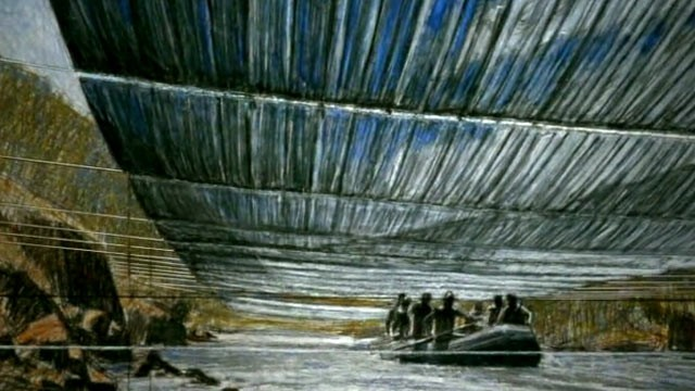 PHOTO: AN artist's rendition of what Christo's proposed artwork might look like is shown.