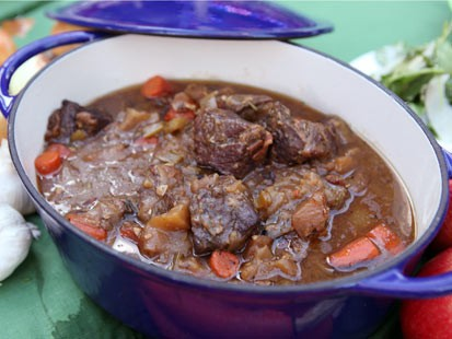 Rachael Ray's cider beef recipe is shown here.
