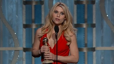 PHOTO: Actress Claire Danes poses in the press room at the 70th Annual Golden Globe Awards held at The Beverly Hilton Hotel on January 13, 2013 in Beverly Hills, California.