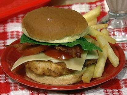 Clinton Kelly's chicken club sandwich is shown here.