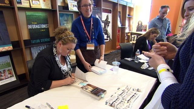 "PHOTO: At a recent book-signing at A Real Bookstore in Fairview, Texas, fans drove hundreds of miles for a chance to meet Colleen Hoover, author of ""Slammed,"" ""Point of Retreat"" and ""Hopeless."""