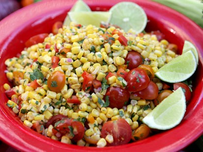Lorraine Wallace's corn salad is shown here.