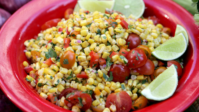 PHOTO: Lorraine Wallace's corn salad is shown here.