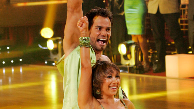 "PHOTO: Cristian de la Fuente and Cheryl Burke compete in ""Dancing With The Stars"", May 19, 2008."