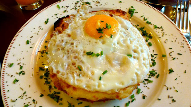 PHOTO: Croque madame is shown here.