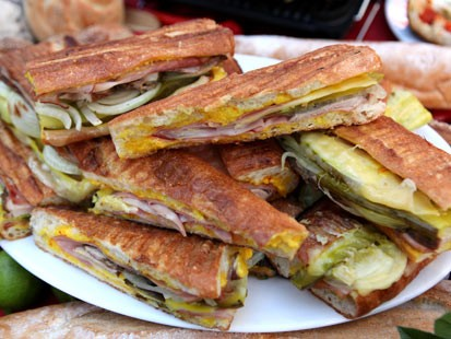 Emeril's Cuban sandwich recipe is shown here.