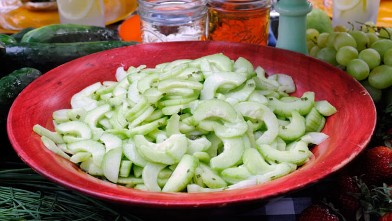 PHOTO: Cucumber salad is shown.