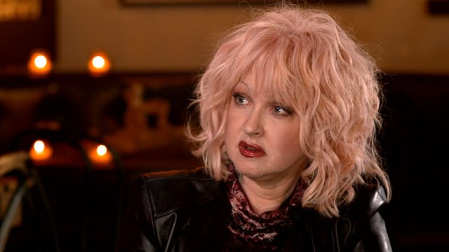PHOTO: '80s pop icon Cyndi Lauper talks with