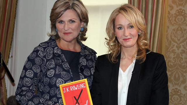 "PHOTO: ""Nightline"" co-anchor Cynthia McFadden holds author J.K. Rowlings personal copy of her highly anticipated novel ""The Casual Vacancy."" The interview airs on ""Good Morning America,"" ""World News with Diane Sawyer"" and ""Nightline"" on Wednesday, Septem"