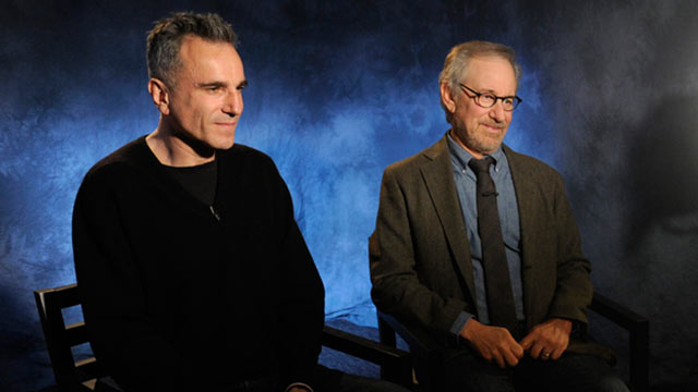 "PHOTO: Diane Sawyer speaks to legendary director Steven Spielberg and two-time Academy Award-winning actor Daniel Day Lewis about the highly anticipated movie ""Lincoln."""