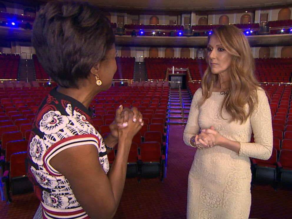 PHOTO: Deborah Roberts speaks with Celine Dion.