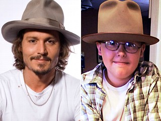 Johnny Depp sent his hat to Jack Taylor, a 12-year-old Wisconsin fan.