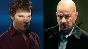 "PHOTO Michael C. Hall is shown in a scene from ""Dexter,"" left./Bryan Cranston is shown in a scene from ""Breaking Bad,"" right."