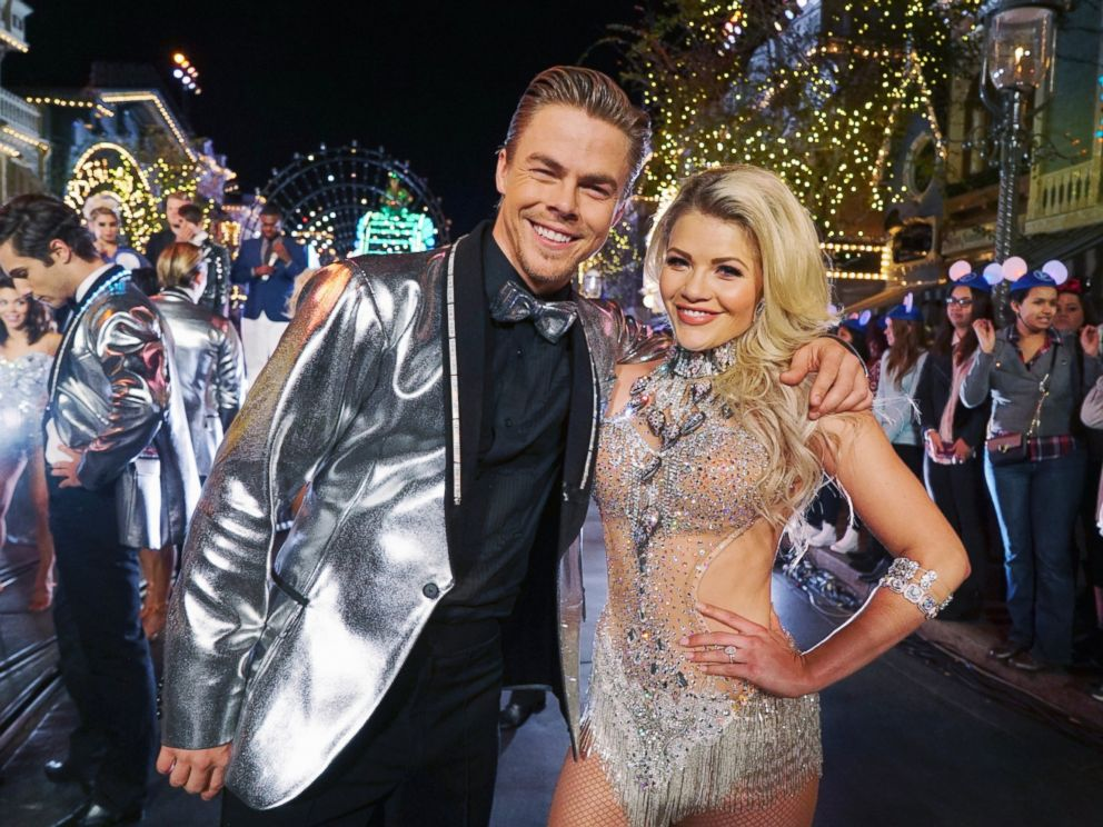 PHOTO: Derek Hough and Witney Carson appear on The Wonderful World of Disney: Disneyland 60, airing Feb. 21, 2016 at 8:00 p.m. on the ABC Television Network.