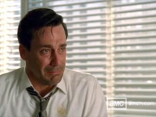 Mad Men Don Draper Crying