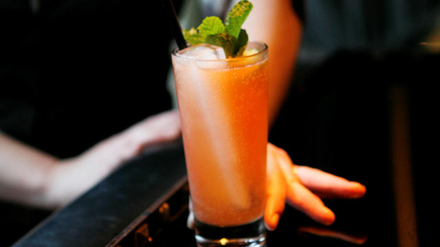 PHOTO: The blushing fizz cocktails are shown here.