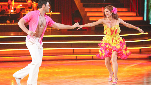 PHOTO: Melissa Gilbert and Maksim Chmerkovskiy perform on Dancing with the Stars on ABC.