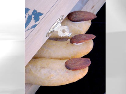 "PHOTO: Pictured here are Eclair Fingers for ""Spot Dessert Bar""s spooky desserts."