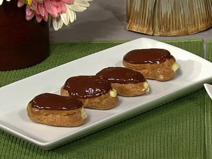 Gail Simmon's eclairs with hazelnut creme are shown here.