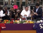 PHOTO: Emeril makes his cheesy beer dip and sausage gumbo for the Super Bowl.