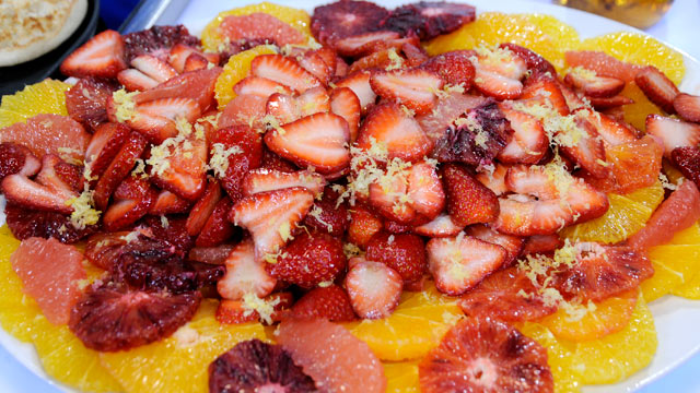 PHOTO: Emeril Lagasse's minted fruit salad with sparkling cider drizzle is shown here.
