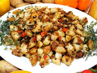 Emeril Lagasse's hash brown potatoes are shown here.