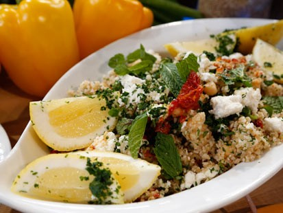 PHOTO: Emerils chickpea salad with tabbouleh is shown here.