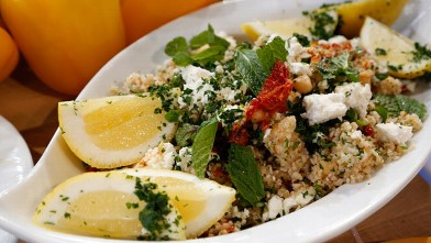 PHOTO: Emeril's chickpea salad with tabbouleh is shown here.