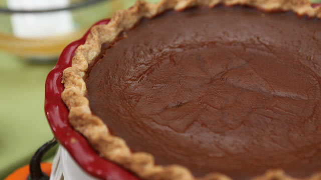 PHOTO: Emeril's pumpkin custard pie is shown here.