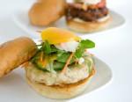 PHOTO: Richard Blais fauxlafel burger is shown here.