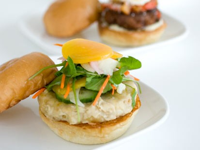 Richard Blais' fauxlafel burger is shown here.
