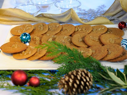 Emeril's chewy ginger cookies are shown here.