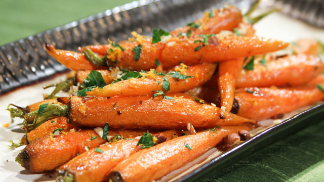 PHOTO: Daphne Oz's ginger-glazed carrots are shown here.