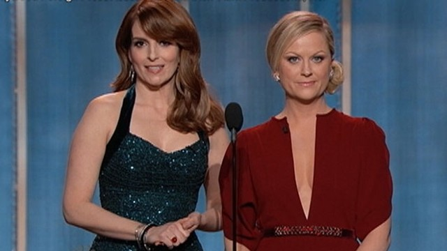 VIDEO: Tina Fey and Amy Poehler poke fun at last years Golden Globe Awards host, Ricky Gervais.