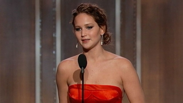 VIDEO: Jennifer Lawrence's 2013 Golden Globe Awards acceptance speech.